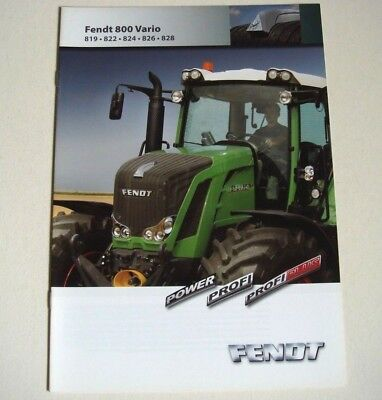 Fendt . Fendt 800 Vario . February 2010 Sales Brochure