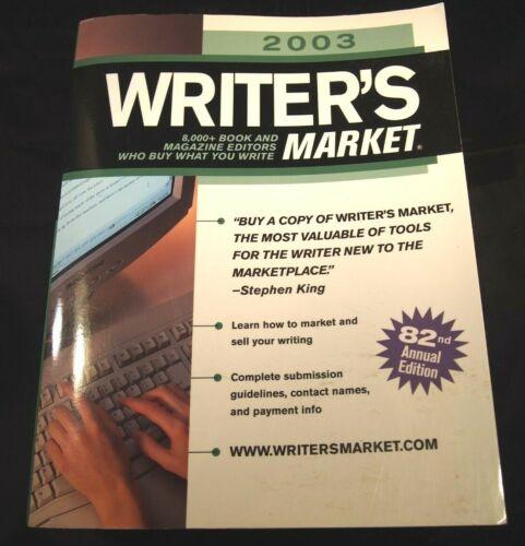 Writers Market 2003 Annual 82nd Edition Struckel-Brogan Brewer