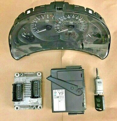 2004-2006 CORSA C 1.0 TWINPORT Z10XEP ECU KIT SET / IGNITION 55354327 0261208393