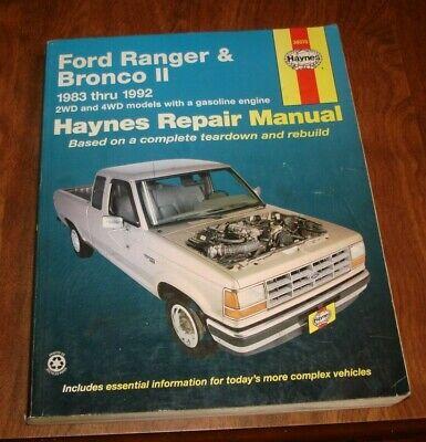 HAYNES FORD RANGER & BRONCO II 1983 THRU 1992 REPAIR MANUAL 36070 (Ford Ranger Haynes)