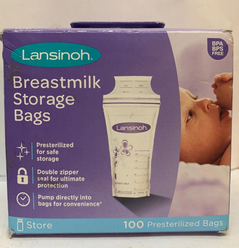 Lansinoh Breastmilk Storage Bags, 100 count- New