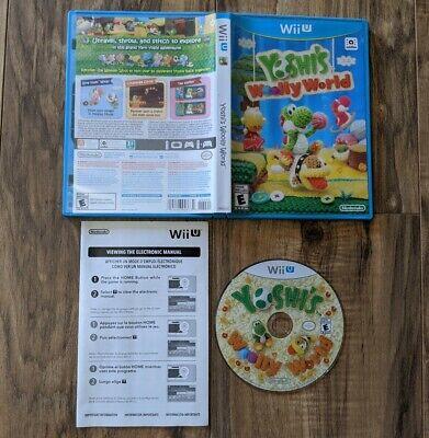 Yoshi's Woolly World (Nintendo Wii U, 2015) Complete Tested & Working