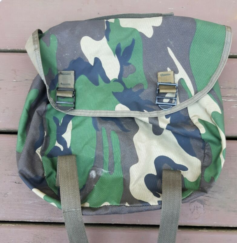 US Military Style Nylon Buttpack Field Pack Woodland Camo