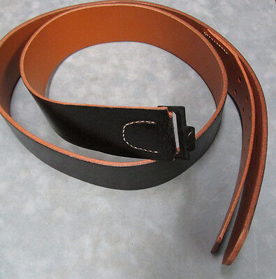 New Reproduction WW2 German Black Leather Equipment Belt Size 48