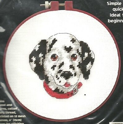 (DEVOTED DALMATIAN PUPPY COUNTED CROSS STITCH EMBROIDERY KIT by DIMENSIONS SEALED)