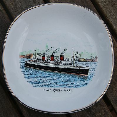 Retro  Pin Dish with R.M.S. Queen Mary