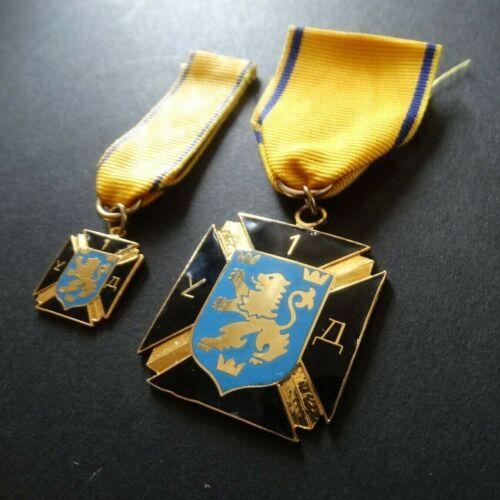 German Ukrainian Legion 14th Waffen Division SS Galizien (1st Galician) Medals
