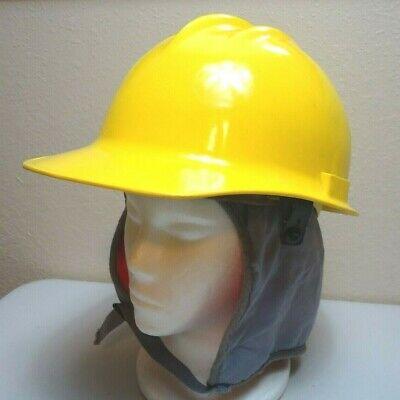 Vintage 1970s 80s Bullard Hard Boiled Hard Hat Yellow Plastic