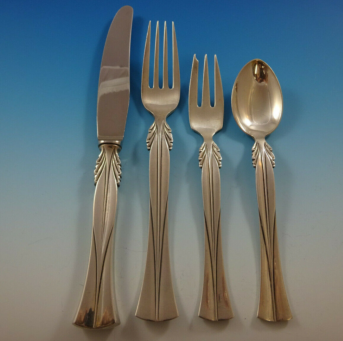Queen Christina by Frigast Sterling Silver Flatware Set ...