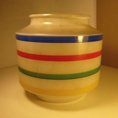 60'S FROSTED GLASS KITCHEN PORCH CEILING MOUNT LIGHT COVER MULTI STRIPE DECOR