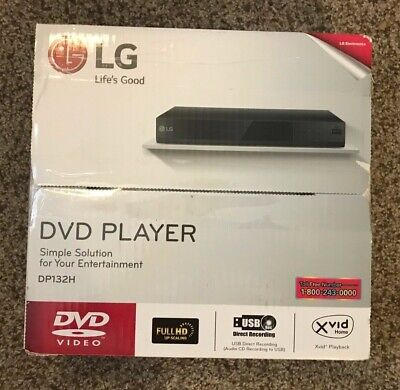 LG DVD Player with USB Direct Recording, HDMI and DVD Upscaling - DP132H