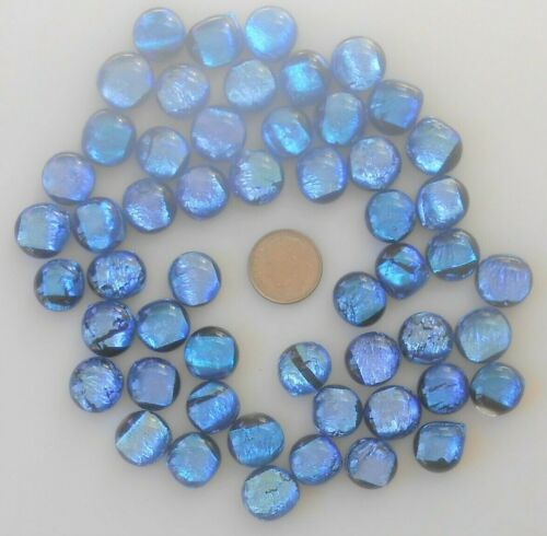 dichroic glass cabochon lot of 53 fused COE 90 cab hand made crafted