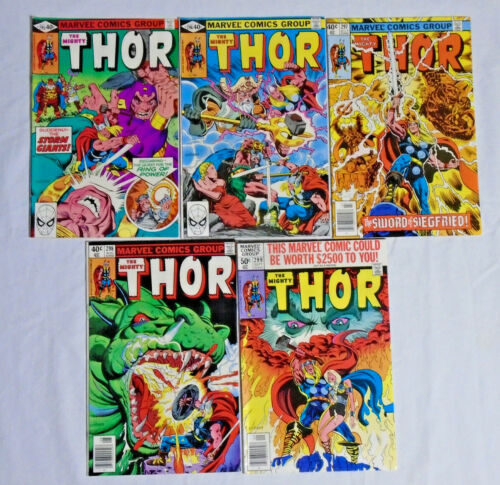 THE MIGHTY THOR #295-299 * Marvel Comics Lot * 296 297 298 - Valkyrie - 5 Comics