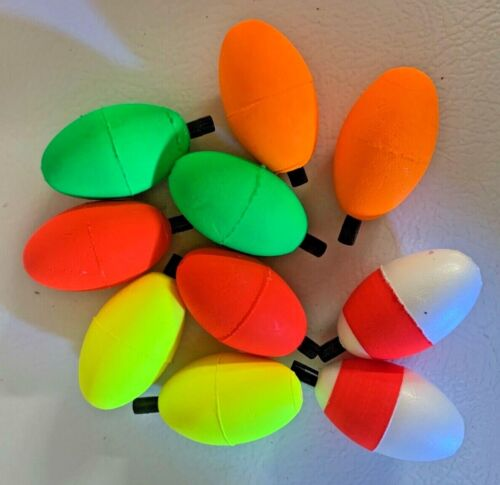 """10 COMAL TACKLE Oval PEG Floats Choose 2"""" or 2.5""""   Lures Fishing Tackle"""