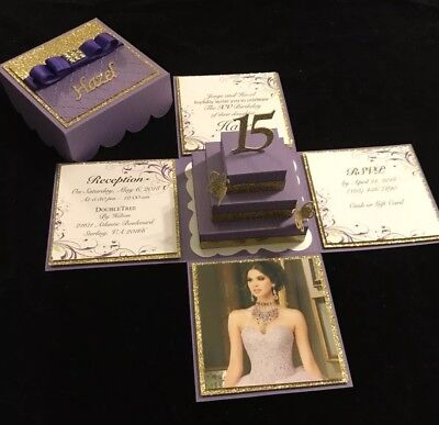 QUINCEAÑERA, SWEET 16, WEDDING OR ANY OCCASION, EXPLODING BOX INVITATION (Quinceañera Invitations)