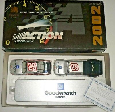 Kevin Harvick #29 GM Goodwrench Service 2002 Car Crew Cab & Trailer ACTION w/COA for sale  Shipping to India