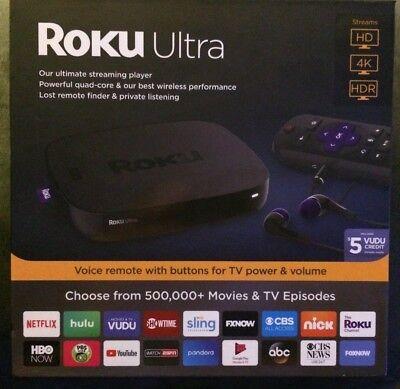 ROKU Ultra 4K HD Streaming Media Player - Black - 4661RW - NEW 2018