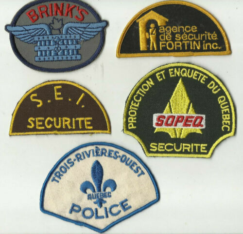 S E I / Brinks / Sopeq / Fortin / T. Rivières  (QUEBEC) Police/Security Patches