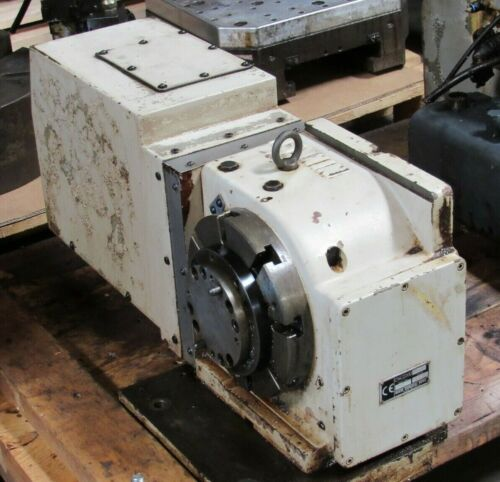"""8"""" NIKKEN 4th AXIS CNC ROTARY TABLE CNC Z200LZA CNCZ200 LZA S/N 8021 FOR SIEMENS"""
