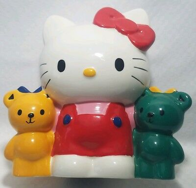 Vintage Sanrio Ceramic Hello Kitty Chum Bears Coin Bank