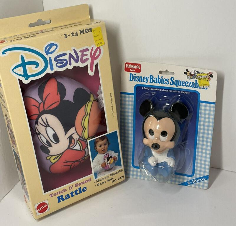 Disney Baby Mickey Minnie new vintage old stock rattles toys