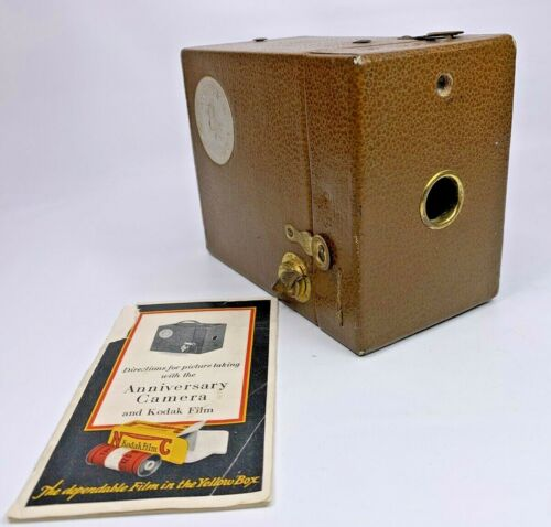 KODAK 50th ANNIVERSARY BOX CAMERA 1880 - 1930 with Instruction Booklet