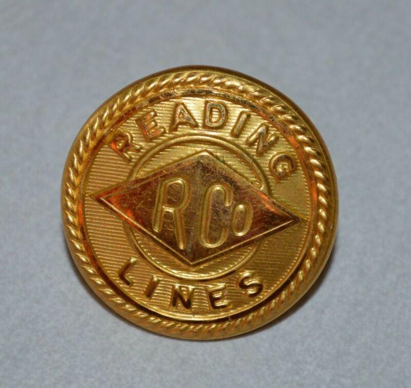 Reading Lines Railroad Uniform Button Waterbury