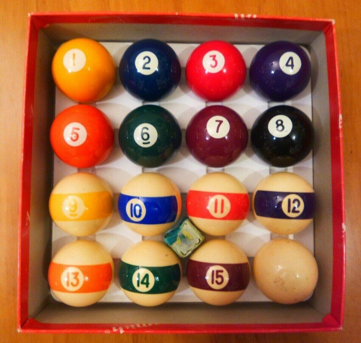 ARAMITH SPOTS and STRIPES POOL BALL SET 1 7/8