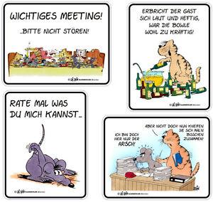 4 Blechschilder Uli Stein als Set Arsch Meeting erbricht der Gast rate mal ...