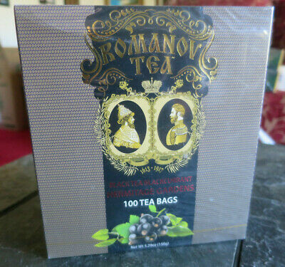 Romanov Tea Ceylon black tea with blackcurrant HERMITAGE GARDENS 100 Bags box
