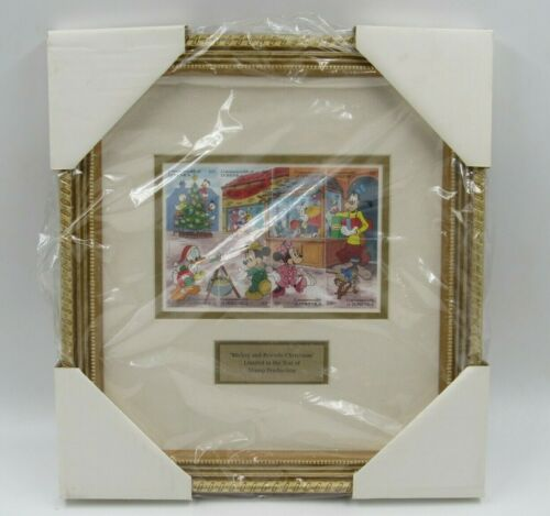 """Disney """"Mickey and Friends Christmas"""" Dominica Framed Stamp Set Limited Edition"""