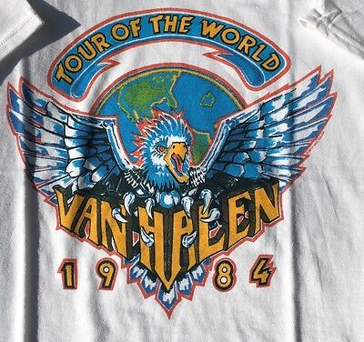 Live Nation Van Halen 1984 Band Rock T Shirt Tee Tour Of The World New Size S
