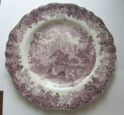 Antique ROMANTIC ENGLAND Dinner Plate HADDON HALL Derbyshire Meakin MULBERRY!
