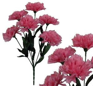 Bulk silk flowers ebay lot of 144 pink poly silk carnations wedding home decor craft bouquet flower mightylinksfo