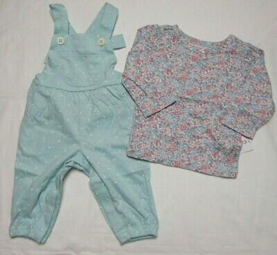 Baby girls Carter's 18 months floral overall set NEW WITH TAGS