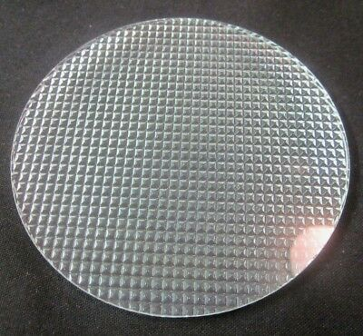 1 Pyrex Glass Theater Stage Light Gel Flat Diffuser Diamond Points Lens 4-5/16