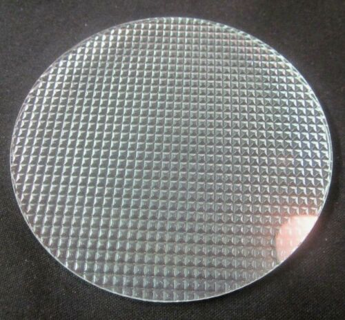 """Pyrex Glass 4-5/16"""" Theater Stage Light Gel Flat Diffuser 1 Lens Diamond Points"""