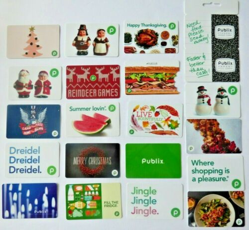 Publix Gift Card LOT of 20 Grocery Food Store - Christmas Thanksgiving -No Value