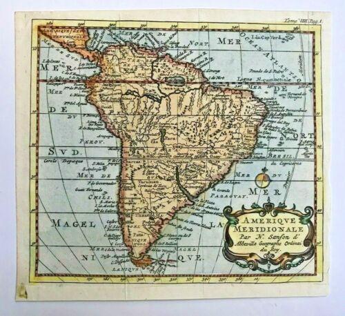 SOUTH AMERICA 1735 NICOLAS SANSON D