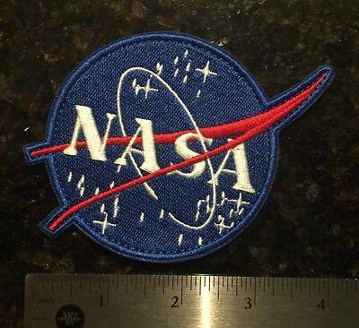 "4"" NASA *VELCRO Vector LOGO ASTRONAUT SPACE SHUTTLE PROGRAM PATCH Embroidered"