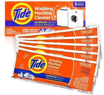 Washing Machine Cleaner By Tide, Washer Tablets For Front And Top Loader 5 Count