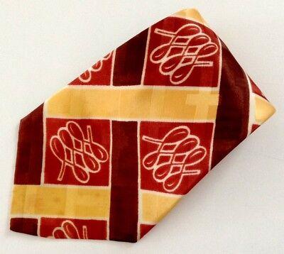 1940s Mens Ties | Wide Ties & Painted Ties Vtg 1940s Men's Necktie Swing Tie Cravat Acetate Geometric Wide Rockabilly $34.95 AT vintagedancer.com