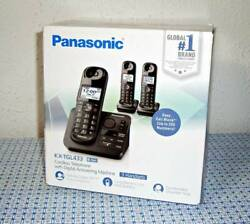 PANASONIC KX-TGL433B EXPANDABLE CORDLESS PHONE W/ ANSWERING MACHINE,3 HANDSETS..