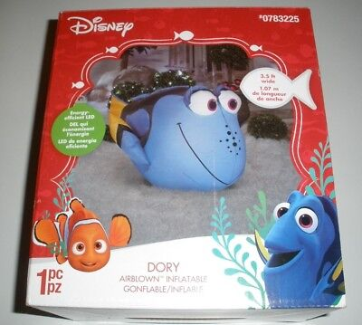 LIGHTED CHRISTMAS FINDING DORY NEMO DISNEY INFLATABLE BY GEMMY NEW 3.5 Ft. LONG