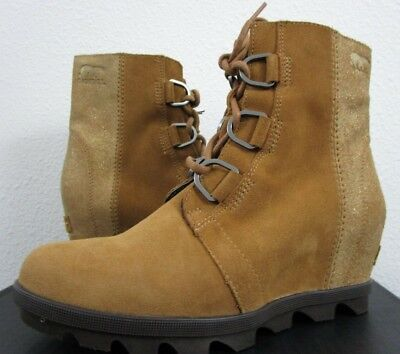 Leather Boots For Girls (NIB Youth Girls Size 5 Sorel Joan of Arctic Wedge II Leather Boots Camel Brown)