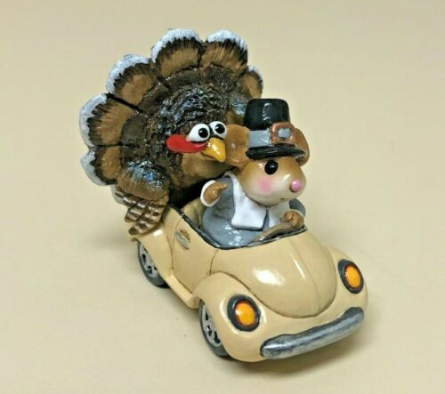 Wee Forest Folk HONK FOR THANKSGIVING! Mouse withTurkey M-254d