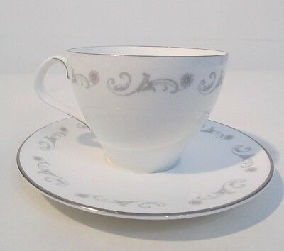 Royal Worcester Fine Bone China Bridal Lace Pattern 1963 England Cup & Saucer Bridal Lace Saucer
