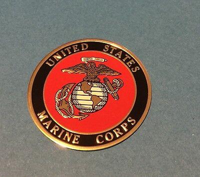Usmc United States Marine Corps Emblem  2 Inch Litho Insert Adhesive Back Ship