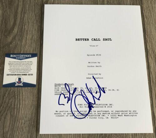 BOB ODENKIRK SIGNED BETTER CALL SAUL SCRIPT w/PROOF & BECKETT BAS COA