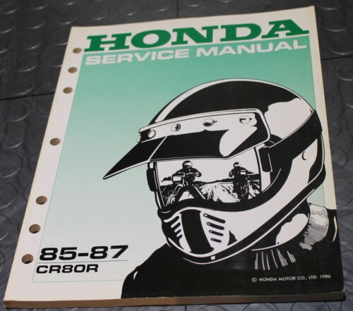 NOS OEM Honda Service Shop Manual NEW 85-87 CR80R CR 80 R